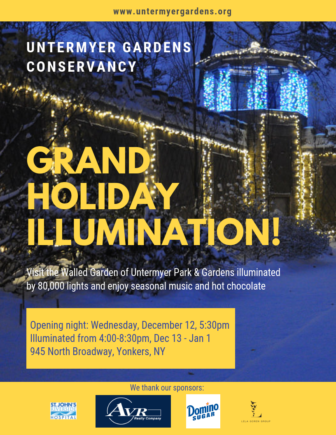 Grand Holiday Illumination at Untermyer Gardens @ Untermyer Gardens