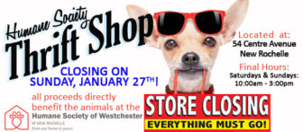 Humane Society of Westchester Thrift Shop TWO DAY Liquidation Sale @ HSW Thrift Shop |  |  |