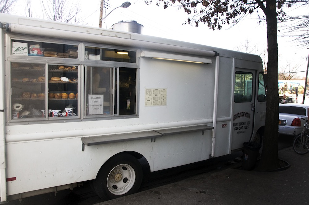 This food truck in Mt. Vernon actually replaced the shuttered restaurant, below, where it is parked.
