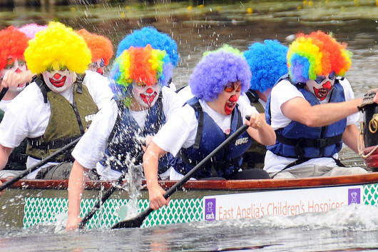 events, clowns, boat