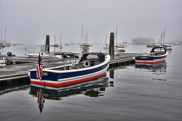 boat, cloudy day
