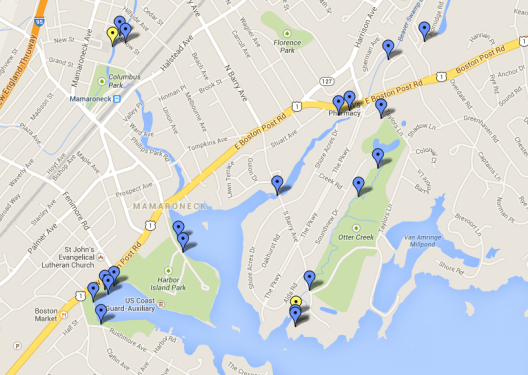 Water Quality Sampling Locations, Summer 2013