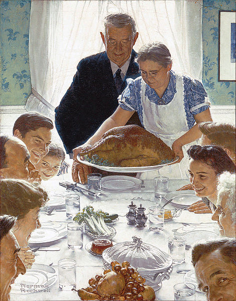 Freedom from Want by Norman Rockwell (believed painted when he lived in New Rochelle)