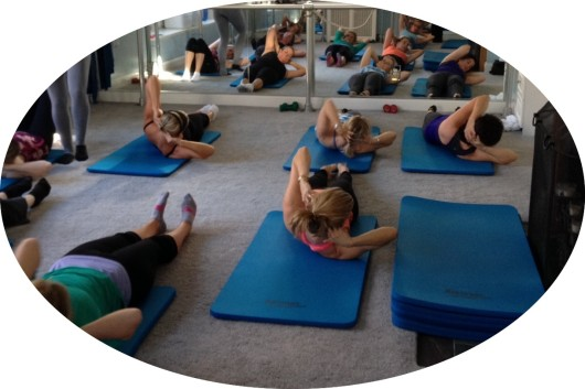 Core Barre class at Thrive