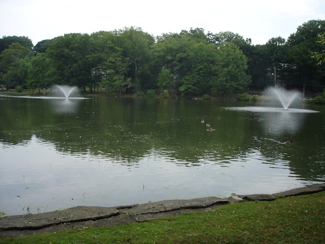 Two New Aerating Fountains on Beechmont Lake in New Rochelle