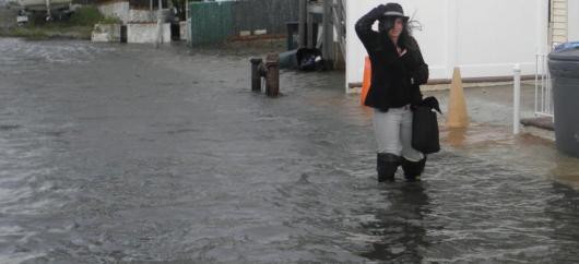 Tidal flooding Jamaica Bay, New York