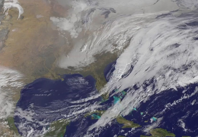 Seen from space, monster storm 'Juno'