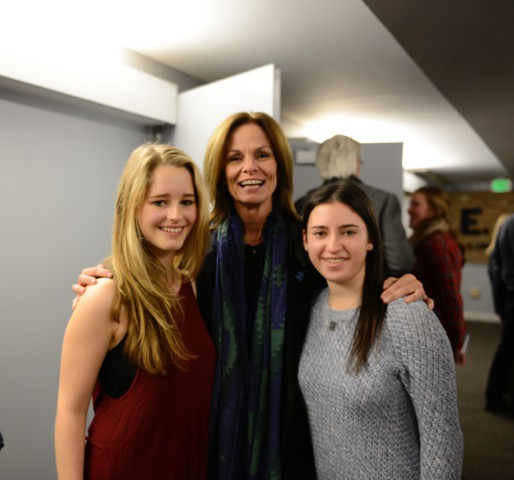 L to R: Club President Natalie Spangle, Liz Feld, and Vice President of club, Dana Herbsman