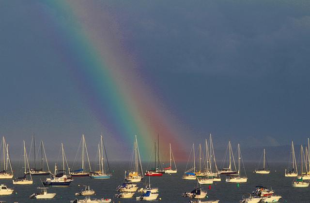 rainbow, summer