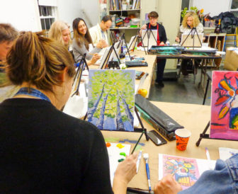 Adult Workshop: Loosen Up And Paint: A BYOB Night Out @ The Rye Arts Center |  |  |
