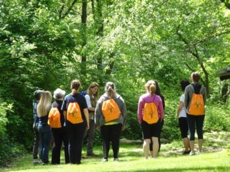 Guided Mindfulness Hike at Sheldrake @ Pinebrook Tennis Court entrance |  |  |
