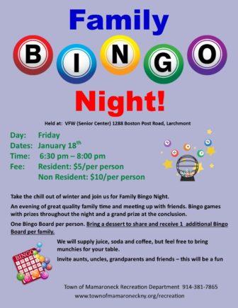 Family Bingo Night @ VFW (Senior Center) |  |  |