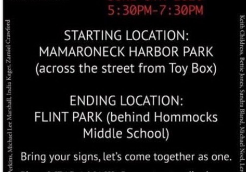Coming Up: Black Lives Matter Peaceful Protest, Mamaroneck