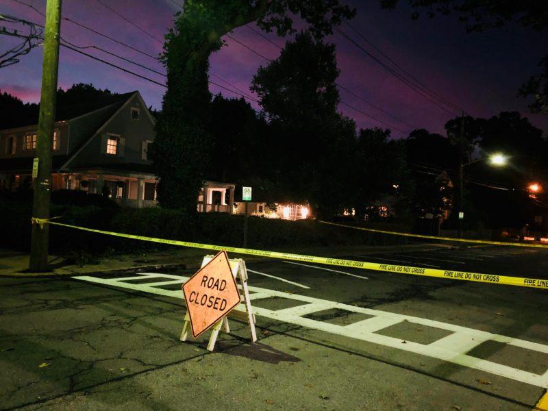 Lighting Road Closure
