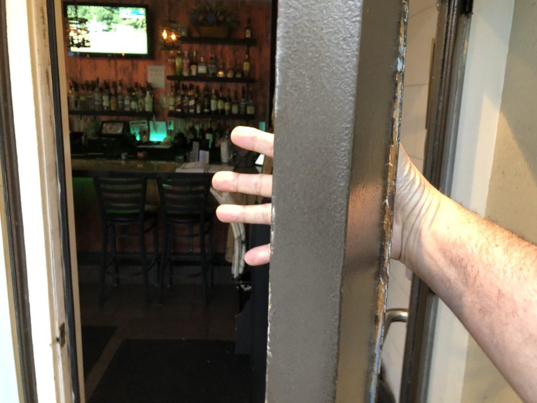 Broken Door at Augie's