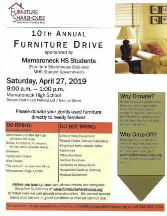 Mamaroneck High School Furniture Drive @ Mamaroneck High School |  |  |