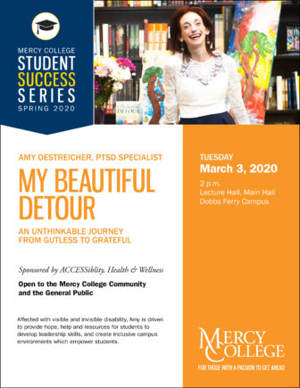 Author Talk on Resilience, Mental Health & Creativity with TEDx Speaker Amy Oestreicher @ Mercy College |  |  |