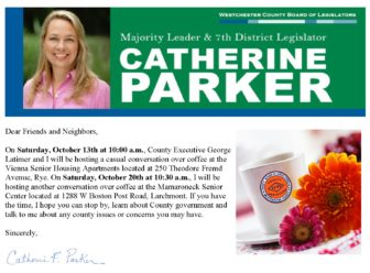 Coffee and Conversation with your County Legislator Catherine Parker & County Executive George Latimer @ Vienna Senior Housing Apartments | Rye | New York | United States
