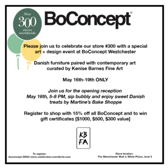 Danish Design Paired With Contemporary Art, Opening Reception @ BoConcept Westchester        