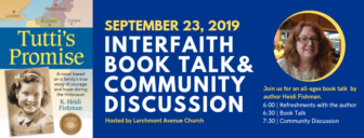 Tutti's Promise: Interfaith Book Talk & Community Discussion @ Larchmont Avenue Church |  |  |