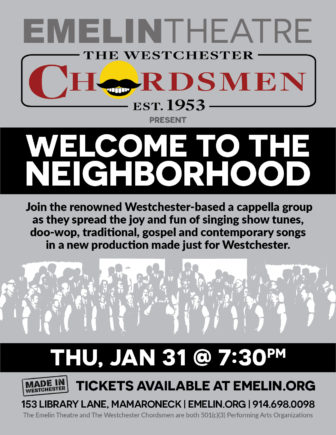 Westchester Chordsmen Chorus in Concert at the Emelin Theater @ Emelin Theatre |  |  |