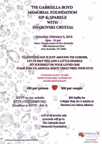 The Gabriella Boyd Memorial Foundation Sip & Sparkle with Swarovski Crystal @ Temple Israel of New Rochelle |  |  |