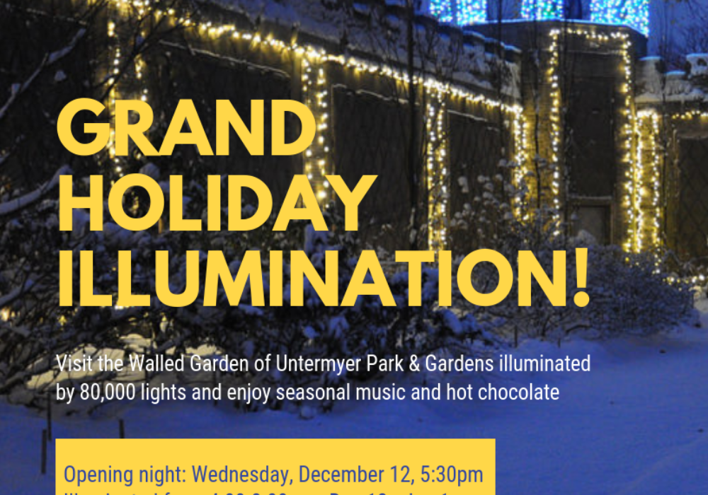 Coming Up: Untermyer Gardens Holiday Illumination – Opens Dec. 12