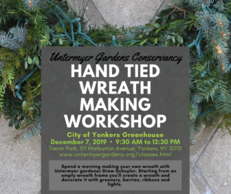 Hand Tied Wreath Making Workshop @ Trevor Park Yonkers City Greenhouse |  |  |